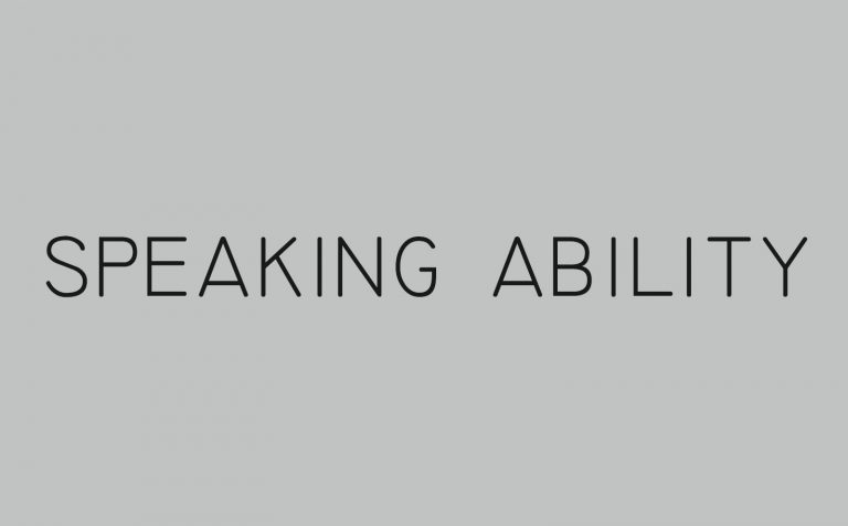 speaking ability