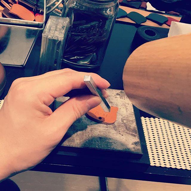 ネコ型バッグチャーム作り @梅田ロフト