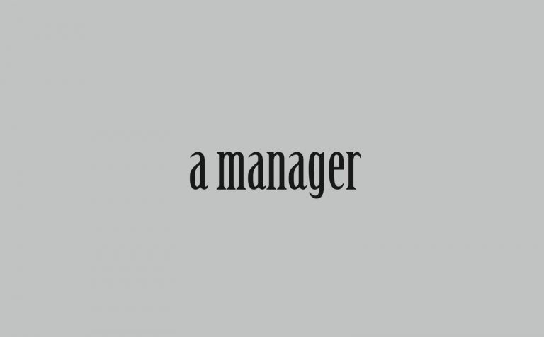 a manager
